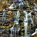 Issaqueena Falls With Rainbow by Matthew Winn