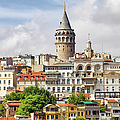 Istanbul Cityscape And Galata Tower by Artur Bogacki