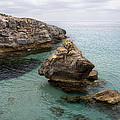 It Rocks 2 - Close To Son Bou Beach And San Tomas Beach Menorca Scupted Rocks And Turquoise Water by Pedro Cardona Llambias