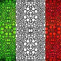 Italian Flag - Italy Stone Rock'd Art By Sharon Cummings Italia by Sharon Cummings