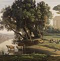 Italian Landscape by Jean Baptiste Camille Corot