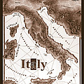 Italian Map by Curtiss Shaffer