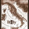 Italian Map by Curtiss Shaffer