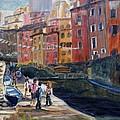 Italian Town by Elena Sokolova