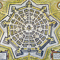 Italy: Palmanova Map, 1598 by Granger
