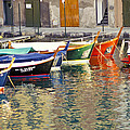 Italy Portofino Colorful Boats Of Portofino by Anonymous