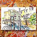 Italy Sketches Venice Canale by Irina Sztukowski