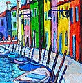 Italy - Venice - Colorful Burano - The Right Side  by Ana Maria Edulescu