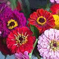 Farmer's Market Flowers II by Michele Steffey