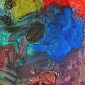 It's A Circle - Abstract Painting From A 2 Yr Old Boy by Lingfai Leung