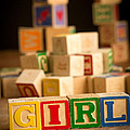 Its A Girl - Alphabet Blocks by Edward Fielding