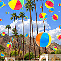 Its Raining Beach Balls Palm Springs by William Dey