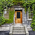 Ivy Covered Doorway - Trinity College Dublin Ireland by Bill Cannon