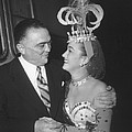 J. Edgar Hoover And Actress Dorothy by Everett