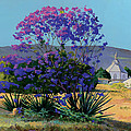 Jacaranda Holy Ghost Church In Kula Maui Hawaii by Don Jusko