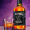 Still Life With Bottle And Glass by Mona Edulesco