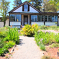 Jack London Countryside Cottage And Garden 5d24565 Long by Wingsdomain Art and Photography