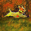 Jack Russell In Autumn by Jane Schnetlage