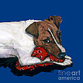Jack Russell With A Red Bandana by Dale Moses