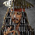 Jack Sparrow Quote Portrait Typography Artwork by Georgeta Blanaru