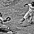 Jackie Robinson Stealing Home by Florian Rodarte