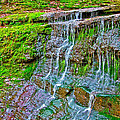 Jackson Falls At Mile 405 Natchez Trace Parkway-tennessee by Ruth Hager