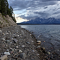 Jackson Lake Shore With Grand Tetons by Belinda Greb