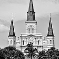 Jackson Square In Black And White by Bill Cannon