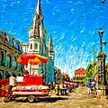 Jackson Square Painted Version by Steve Harrington