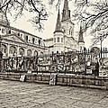 Jackson Square Winter Sepia by Steve Harrington