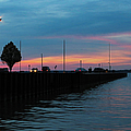 Jackson Street Pier - Sunset by Shawna Rowe