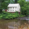Jacksons Mill In The Rain by Mary Almond