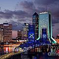 Jacksonville Skyline At Dusk by Bill Cobb