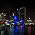 Jacksonville Skyline At Night  by John Zawacki