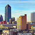 Jacksonville Skyline Morning Day Color Panorama Florida by Jon Holiday