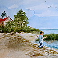 Jacob At East Point  by Nancy Patterson