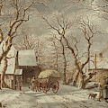 Jacob Cats Dutch, 1741 - 1799, Winter Scene by Quint Lox