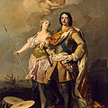 Peter I With Minerva With The Allegorical Figure Of Glory by Jacopo Amigoni