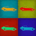 Jaguar E Type Pop Art 1 by Naxart Studio