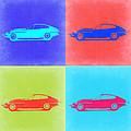 Jaguar E Type Pop Art 2 by Naxart Studio