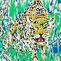 Jaguar - Enamels Painting by Fabrizio Cassetta