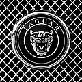 Jaguar Grille Emblem -0317bw by Jill Reger