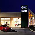 Jaguar Land Rover Harrisburg At Dark by Jean Macaluso