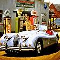 Jaguar Xk 140 by Mike Jeffries