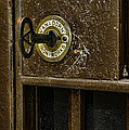Jail Cell Door Lock  And Key Close Up by Paul Ward