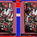 James Earl Jones Smoking Twice Collage The Great White Hope Set Globe Arizona 1969-2012 by David Lee Guss