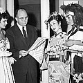 James Michener In Tokyo by Underwood Archives