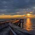 James River Sunset Riverview Pier by Jerry Gammon