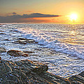 Jamestown Surf At First Light by Richard Trahan