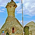Jandarma Or Police Station In A Fairy Chimney In Cappadocia-turkey  by Ruth Hager